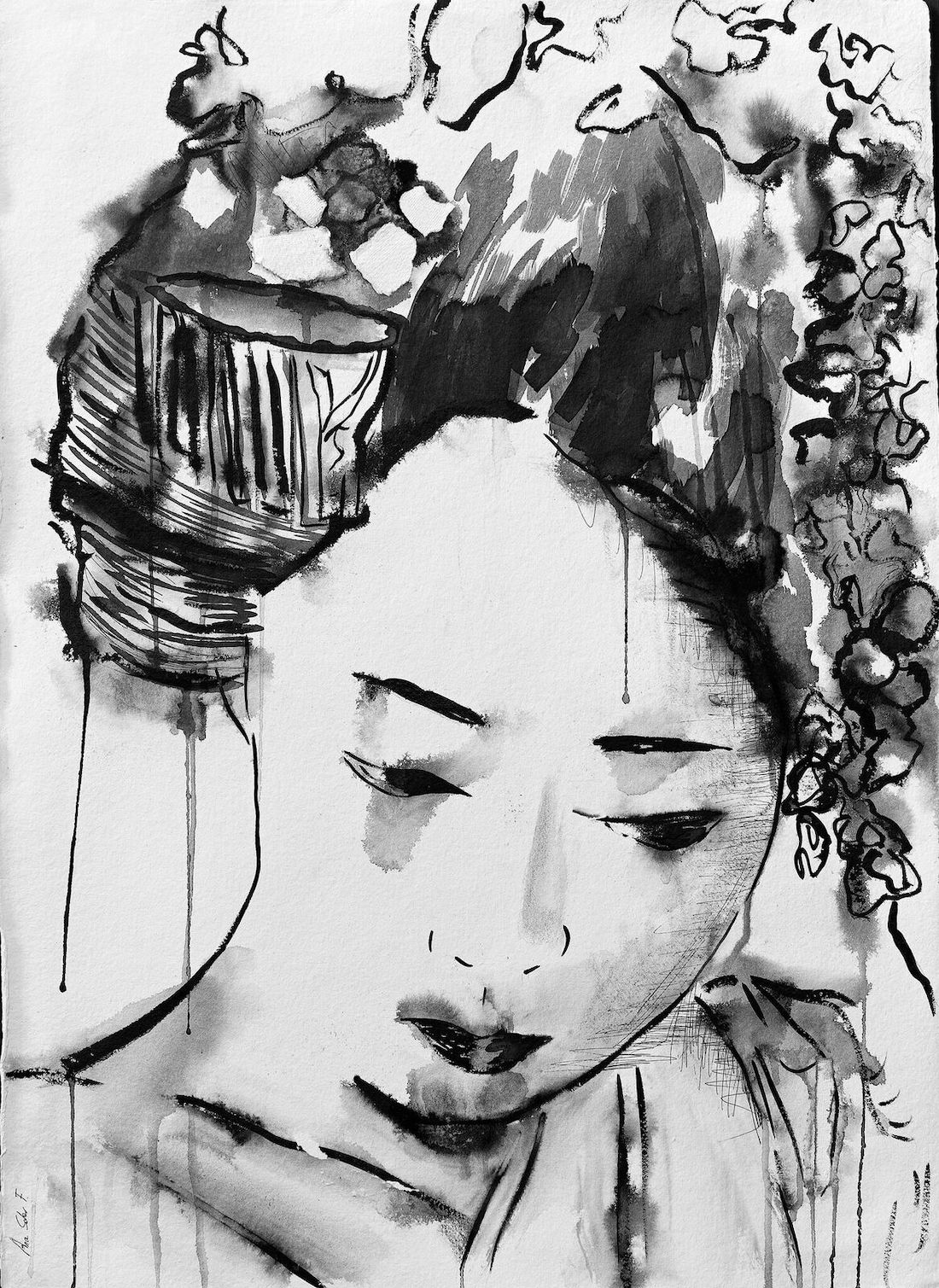 tinta china sobre papel de algodón. Ana Soler Fernández